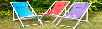 Recliners and Deck Chairs at Honnor and Jeffrey Isle of Wight